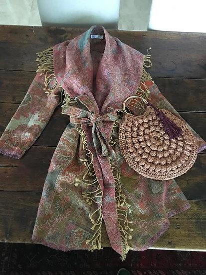 giacchino lana fantasia cachemire dust rose