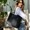 Thumbnail: Borsa shopper plastica riciclata nera
