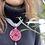 Thumbnail: Collana artigianale grigio rosso scuro
