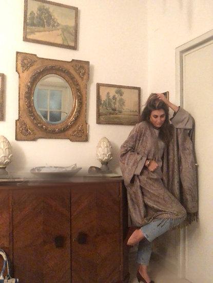 Mantella lana e cachemire tortora