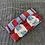 Thumbnail: Borsa pochette velluto rosso/blu