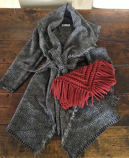 giacchino lana ikat nero