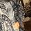 Thumbnail: Maxi cardigan aperto lana fantasia blu