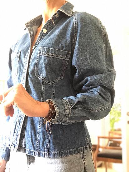 Camicia jeans taglio giacchino