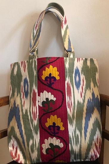 Tote bag luxury cotone disegni e ricami a mano
