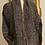 Thumbnail: Maxi cardigan lana verdone/bordeaux