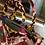 Thumbnail: Set borsa velluto e mocassino velluto pelle rosso