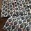 Thumbnail: Pigiama puro cotone fiori blu bordino rosso