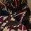 Thumbnail: Pigiama puro cotone ikat marrone magenta bianco