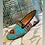 Thumbnail: Borsa e scarpa velluto turchese