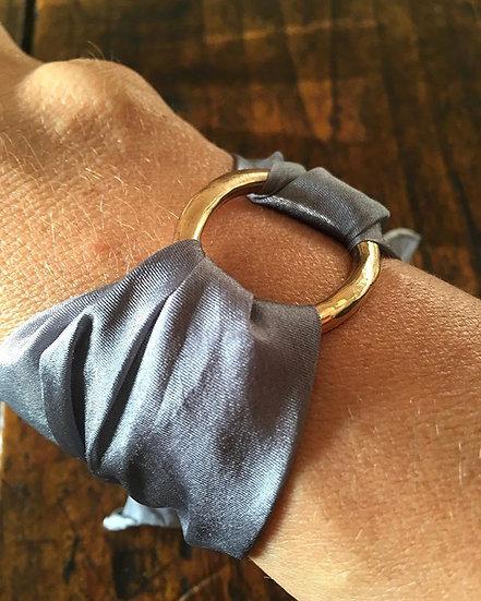 Bracciale seta e bronzo (seta in vari colori)