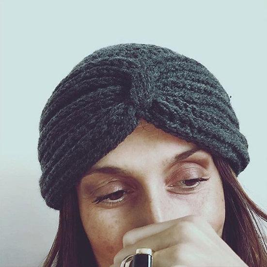 cuffia berretto beanie lana grigio antracite