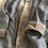 Thumbnail: Cappottino ikat rombi bordo velluto grigio