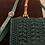 Thumbnail: Borsa cartella verde bosco con tracolla pelle
