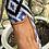 Thumbnail: Mocassino velluto ikat azzurro-nero