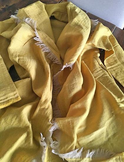 giacchino lana giallo senape