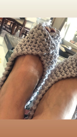 Pantofoline uncinetto aperte in punta