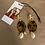 Thumbnail: Orecchini resina, galvanica oro e conchiglie