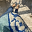 Thumbnail: Ballerine velluto fantasia azzurro cielo