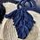 Thumbnail: Borsa paglia tonda fettuccia blu o nera