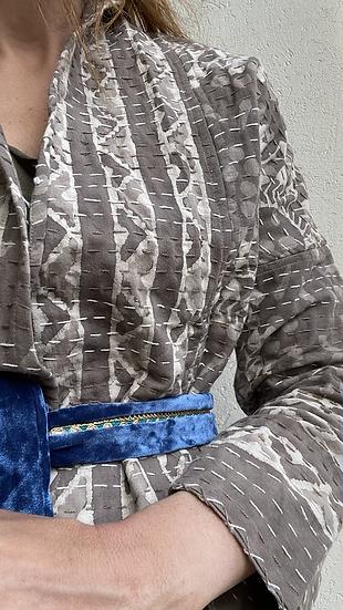 Giacchino puro cotone colore taupe