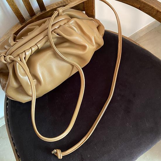 Tracolla(solo tracolla)in vera pelle color cammello per borsa
