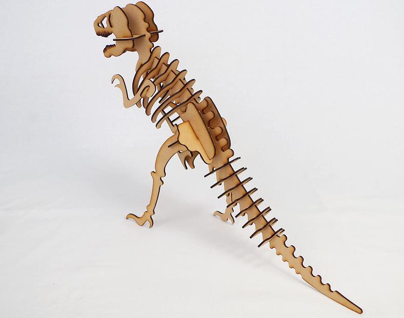MDF レーザー切断 ティラノザウルス