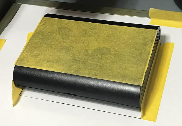 Podea-01でABS樹脂ケース加工マスキング例