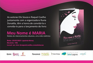 // Livro Meu Nome É Maria será lançado e aborda violência contra a mulher