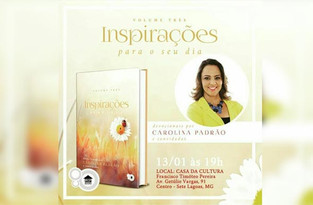 // Lançamento do livro Inspirações Três