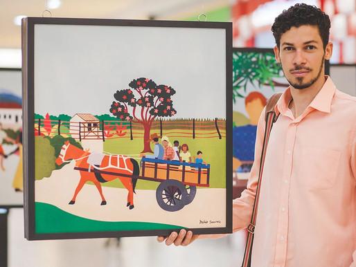"""Museu Guimarães Rosa recebe Mário Soares, artista da exposição """"Memórias de Minas Gerais"""""""