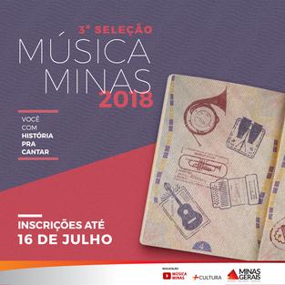 // Abertas as inscrições para a 3ª Seleção do Música Minas