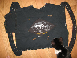 Old T-shirts made into backpack