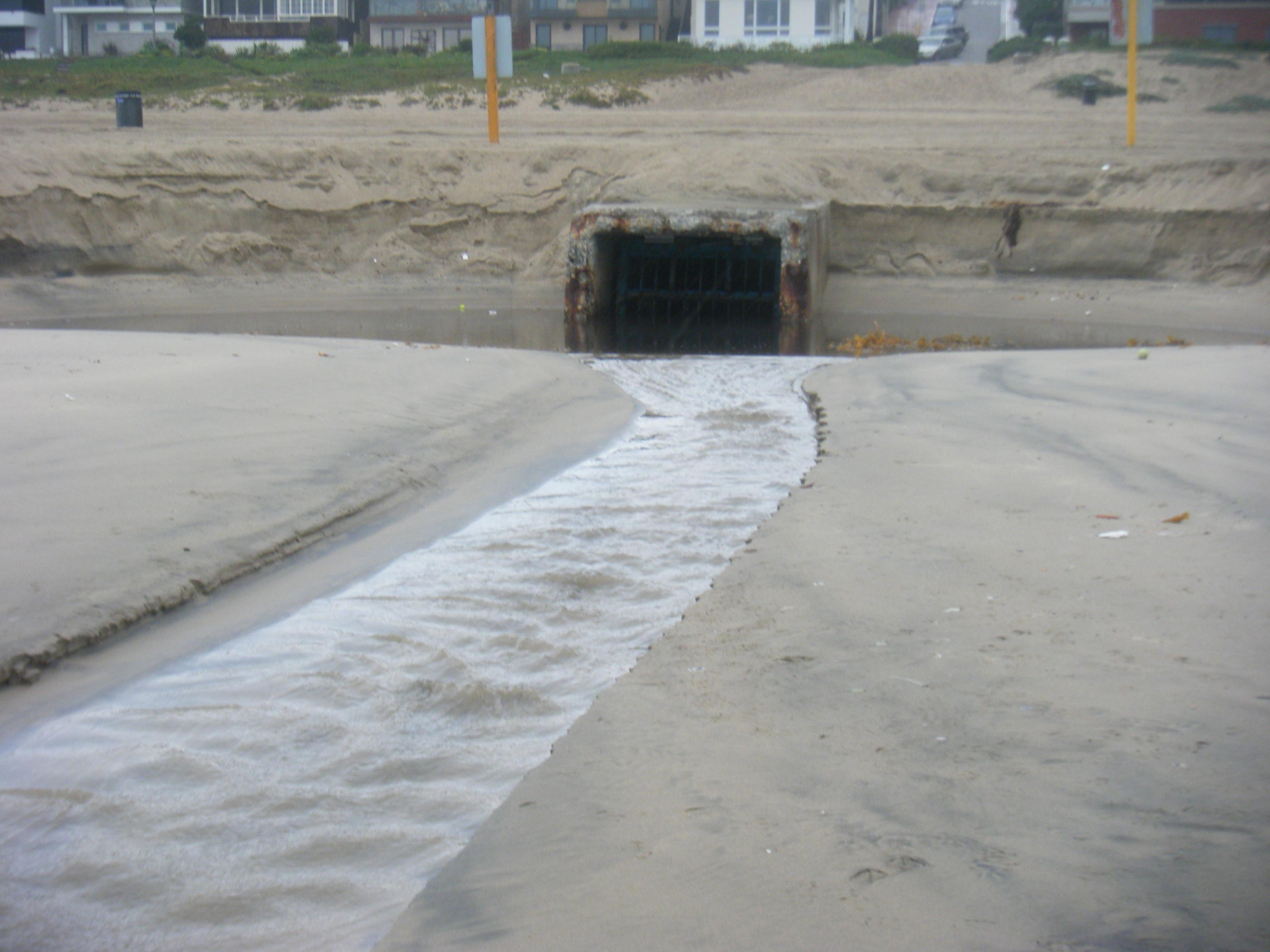 Storm drain flow