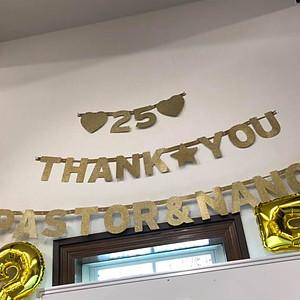 2019年5月26日 前田先生ご夫妻 牧会25周年感謝の時