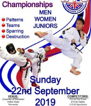 Taekwondo - BTC Champiosnhips - Sunday 22nd Sept 2019