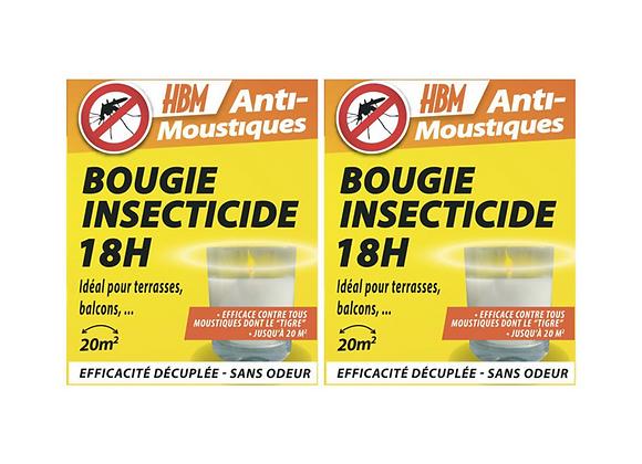 BOUGIES INSECTICIDE 18H HBM LOT DE 2