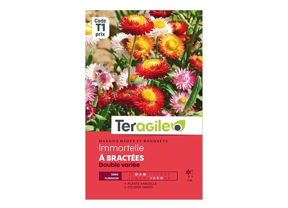 GRAINES IMMORTELLE À BRACTÉES DOUBLE VARIÉE 1.5G TERAGILE®