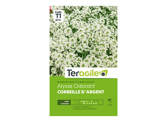 GRAINES ALYSSE ODORANT CORBEILLE D'ARGENT 1G TERAGILE®