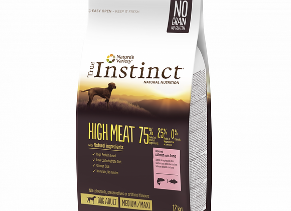 CROQUETTES CHIEN TRUE INSTINCT® HIGH MEAT - MEDIUM/MAXI ADULT - SAUMON - 12KG