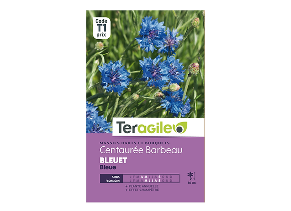 GRAINES CENTAURÉE BARBEAU BLEUET BLEUE 2G TERAGILE®