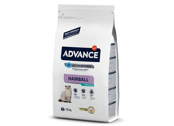 CROQUETTES CHAT ADVANCE® VETERINARY DIETS - HAIRBALL STERILIZED DINDE - 1,5KG