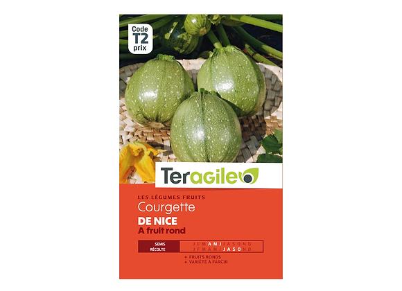 GRAINES COURGETTE DE NICE À FRUIT ROND 5G TERAGILE®