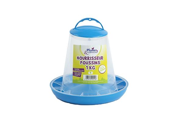 NOURRISSEUR PLASTIQUE POUR POUSSIN PLUME & COMPAGNIE® - 1KG