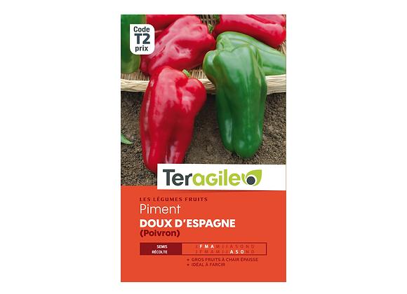 GRAINES PIMENT DOUX D'ESPAGNE (POIVRON) 2.5G TERAGILE®
