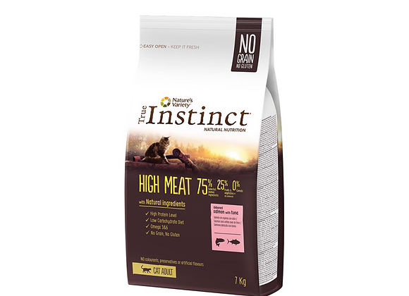 TRUE INSTINCT HIGH MEAT - SAUMON 7KG
