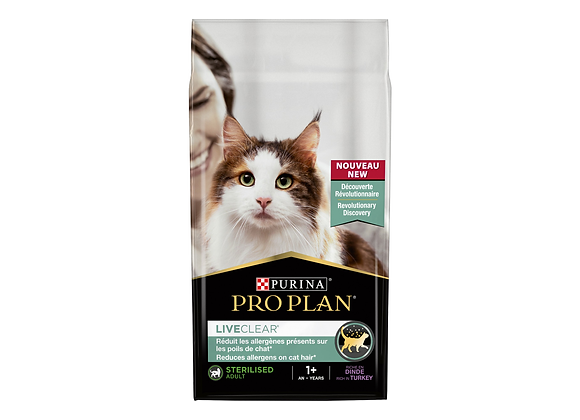 CROQUETTES CHAT PURINA® PRO PLAN® LIVECLEAR® ADULT STERILISED DINDE - 2.8 KG