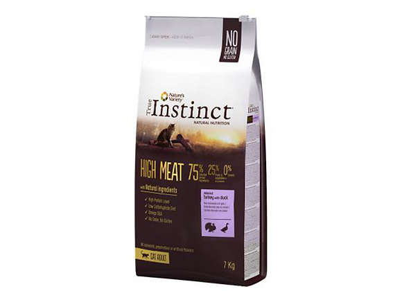 TRUE  INSTINCT HIGH MEAT  DINDE+CANARD 7KG