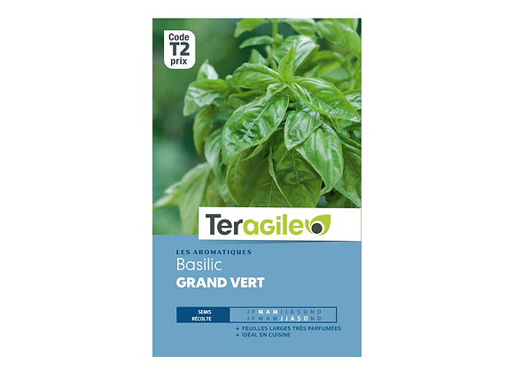 GRAINES BASILIC GRAND VERT 2.5G TERAGILE®