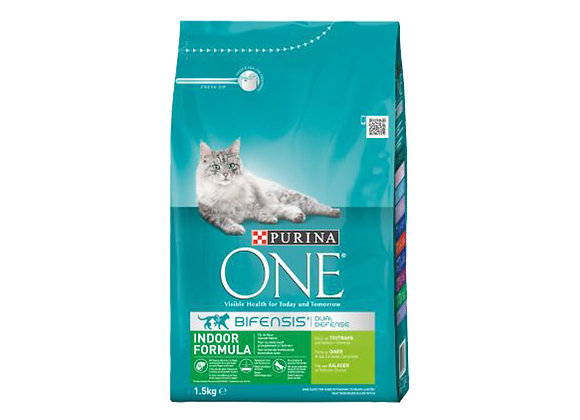 CROQUETTES CHAT PURINA® ONE® INDOOR DINDE - 1.5KG